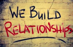 We Build Relationships Concept